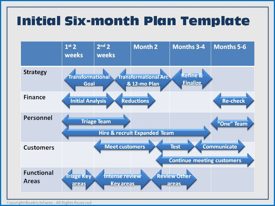 First six months plan template businessexcelleration for Sales manager action plan template